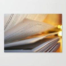 Pages in time Canvas Print