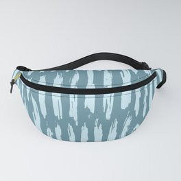 Vertical Dash Turquoise on Teal Blue Fanny Pack