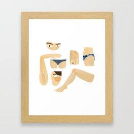 bodyparts Framed Art Print