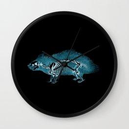 X Ray Hedgehog - X ray Art - Hedgehog Art Print - Woodland Art  Wall Clock