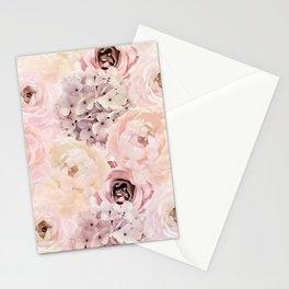 Midsummer Roses- Vintage Rose Pattern Stationery Cards