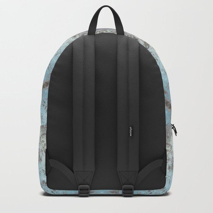 Gray blue kaleidoscope Backpack
