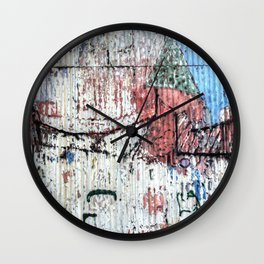 Graffiti Wall 1 Wall Clock