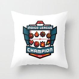 Indigo League Champion - Red Version Throw Pillow