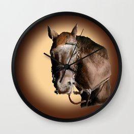 Season of the Horse - Pudding Wall Clock