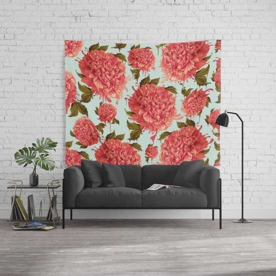 A splash of peony a dash of color wall tapestry by kristypattersondesign society6