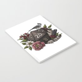 Druid Class D20 - Tabletop Gaming Dice Notebook