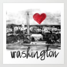 I love Washington Art Print
