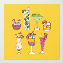 Tropical Libations Canvas Print