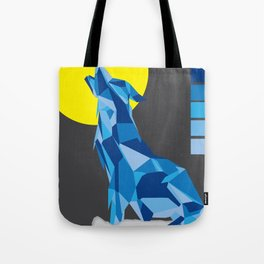 Geo Wolf Tote Bag