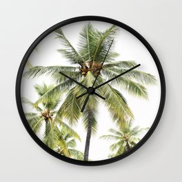 Coconut Palms  Wall Clock