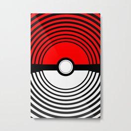 A Pokeball Within a Pokeball Metal Print