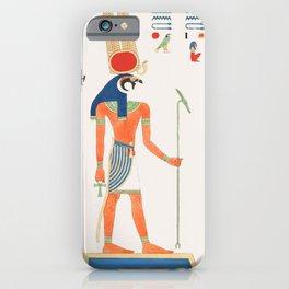Montu  from Pantheon Egyptien (1823-1825) by Leon Jean Joseph Dubois (1780-1846) iPhone Case