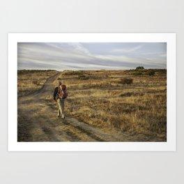 Camino to Santiago de Compostela, Spain Art Print