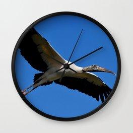 Wood Stork in Flight Wall Clock