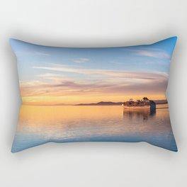 Cruising Into the Sunset Rectangular Pillow