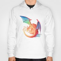 charizard Hoodies featuring Charizard by Natalie Huber