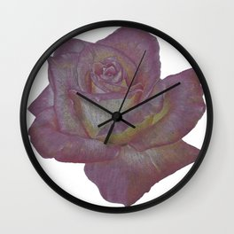 Pink and Yellow Rose Wall Clock