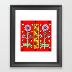 Folk needlework Framed Art Print