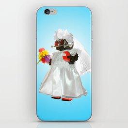 Bridebot Blue iPhone Skin