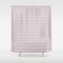 Chevron flowers - Orchid Hush Shower Curtain