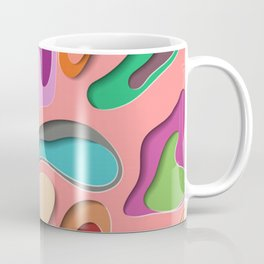3D Abstract Colorful Paper Art Coffee Mug