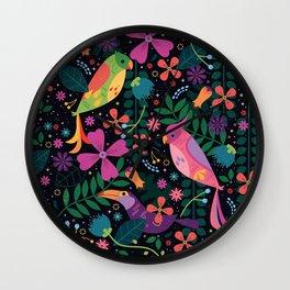 Enchanted Tiki Birds Wall Clock