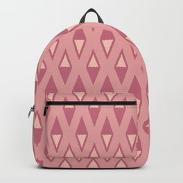 Classic Diamond and Stripes Pattern 242 Dusty Rose Backpack