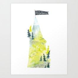 Go To The Mountaintop. Art Print