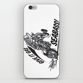 Give IT Gas Seabass Illustration iPhone Skin