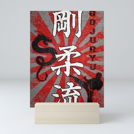 Goju Ryu Fighter and Dragon, Goju Ryu Karate kanji Mini Art Print
