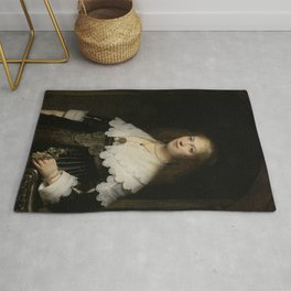 Rembrandt - Portrait of a Woman, Possibly Maria Trip Rug