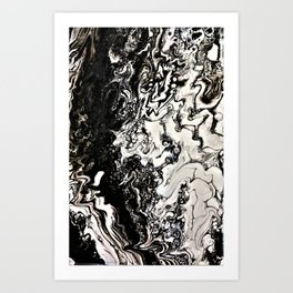Positive or negative, you choose Art Print