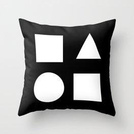 Minimal Shapes White Throw Pillow