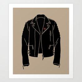 Leather Jacket - HANDSOME DEVIL'S CLUB (3/3) Art Print