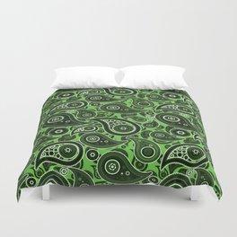 Green Paisley Pattern Duvet Cover