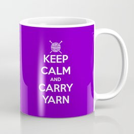 Keep Calm and Carry Yarn - Purple solid Coffee Mug
