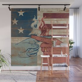 Blame US Wall Mural
