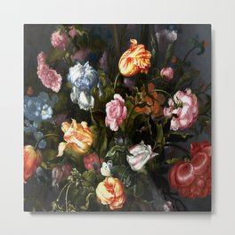Vase with Flowers Metal Print