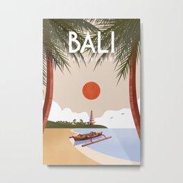 Bali travel poster Metal Print