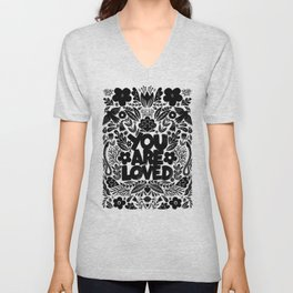 you are loved - garden Unisex V-Neck