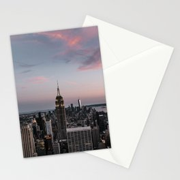 New York City at Sunset Stationery Cards