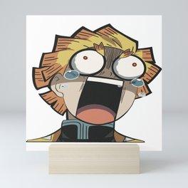 Crazy face  Mini Art Print
