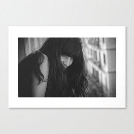 Love from Paris b/n Canvas Print