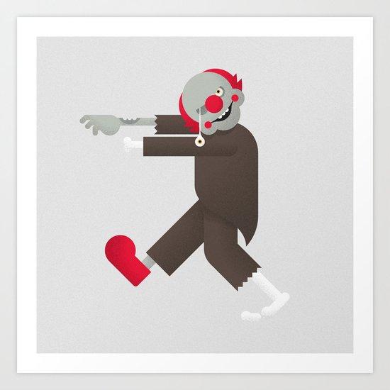 Zombie / Clown Art Print