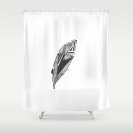 JL Feather Shower Curtain