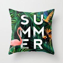 Summer Jungle Throw Pillow