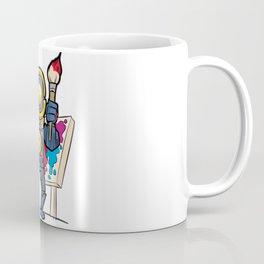 ROBOT COLORING Artist Brush Easel Pathfinder Gift Coffee Mug