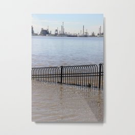 City Spillway Metal Print