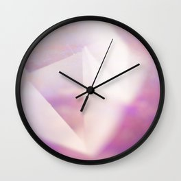 PASTEL CRYSTAL QUARTZ POINT Wall Clock